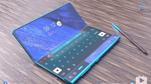 DSCC 창업자 로스영이 화웨이 차세대 폴더블폰 메이트X2의 컨셉 이미지를 공개했다. / (사진=로스영 트위터)