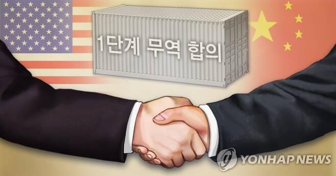 미중 1단계 무역합의 (PG) [장현경 제작] 일러스트