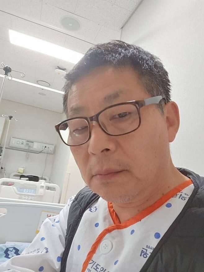 음압병실로 이송된 차명진 전 의원 [차명진 전 의원 페이스북 갈무리. 재판매 및 DB 금지]