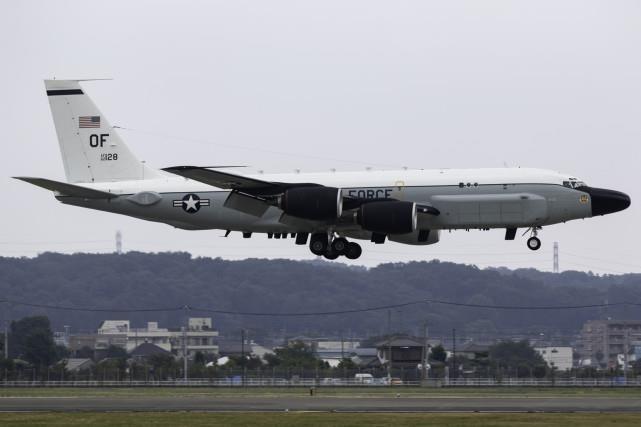 미 RC-135S 정찰기 [환구시보 캡처. 재판매 및 DB 금지]