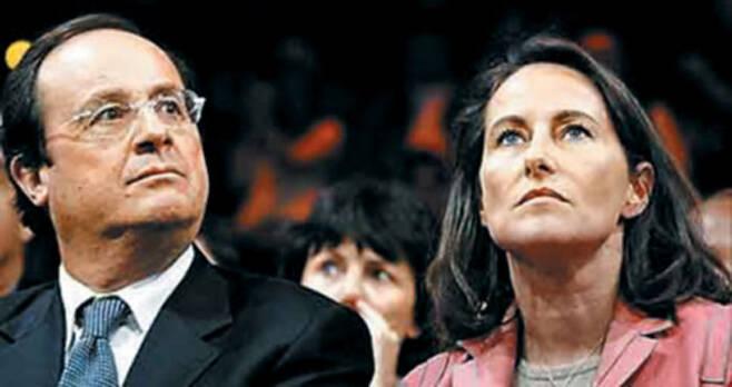 프랑수아 올랑드(왼쪽) 전 프랑스 대통령은 세골렌 루아얄(오른쪽) 전 환경에너지부 장관과 30년 가까이 동거하며 자녀 넷을 낳았다. /르피가로
