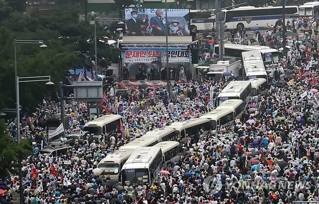 8월 15일 서울 광화문 집회 [연합뉴스 자료사진]