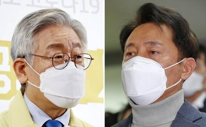 이재명 경기도지사(왼쪽)와 오세훈 전 서울시장 [연합뉴스 자료사진]
