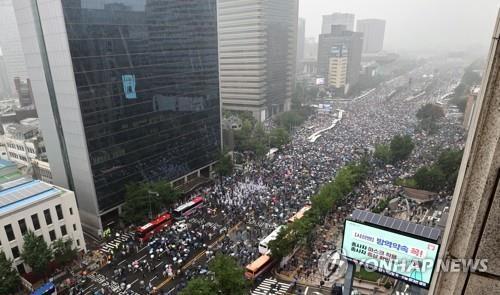 서울 도심 광복절 집회 [연합뉴스 자료사진]