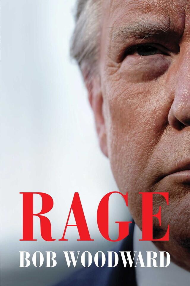'워터게이트' 특종기자인 밥 우드워드가 도널드 트럼프 미국 대통령과 18차례의 인터뷰에 바탕해 펴낸 신간 <격노>의 표지. 오는 15일 시판될 예정이다.