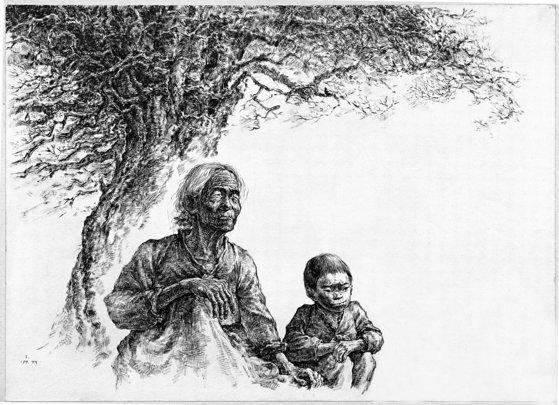 시원(始原), 종이에 펜과 먹, 1989. [사진 돌베개]
