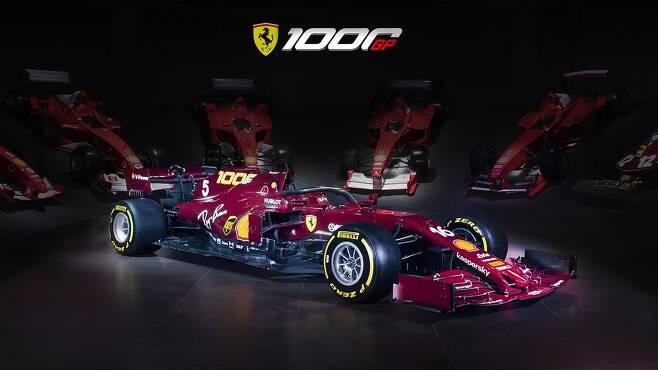 페라리팀의 1천번째 F1 그랑프리에 참가할 SF1000 머신 [페라리 홈페이지 캡처. 재판매 및 DB 금지]