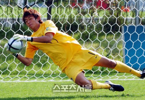 20세 이하 축구대표팀 시절 차기석 코치. (스포츠서울 DB)