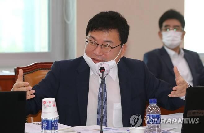 질의하는 이상직 의원 [연합뉴스 자료사진]