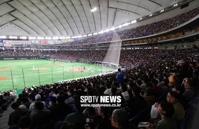 ▲ 프리미어12 경기가 열리고 있는 도쿄돔. ⓒ 곽혜미 기자