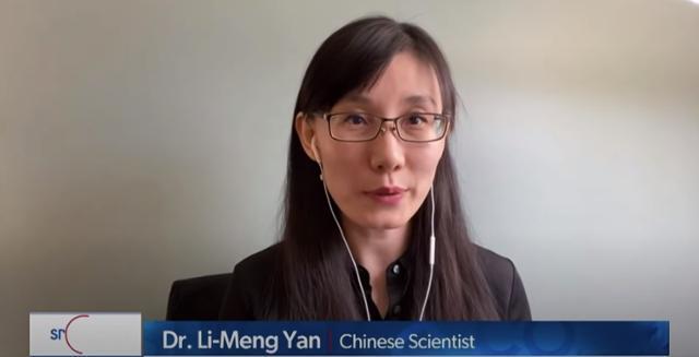 지난달 12일 미국 매체 뉴스맥스와 인터뷰하고 있는 옌리멍 박사. 션 스파이서 유튜브 캡처