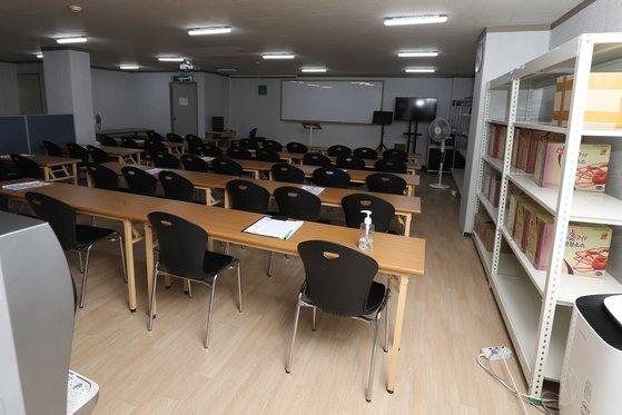 대구 '동충하초 사업설명회' 가 열린 지하 공간. 뉴스1