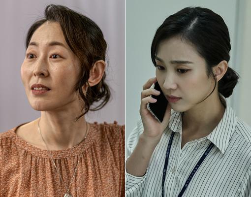미스터리 스릴러 '미씽:그들이 있었다'의 강말금(왼쪽)과 '비밀의 숲2'에서 활약하는 박지연. 시청자의 추리 심리를 한껏 자극하면서 존재감을 알리고 있다. 사진제공|OCN·tvN