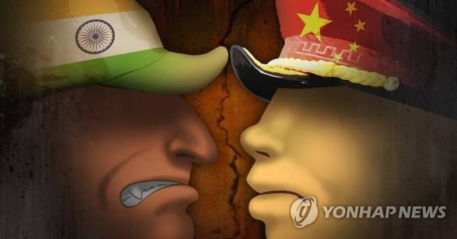 중국-인도 '국경분쟁' (PG) [제작 조혜인] 일러스트