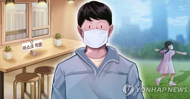 실내 · 실외 마스크 착용 의무화 (PG) [장현경 제작] 일러스트