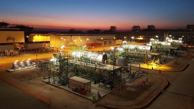 이라크 주바이르 육상 사업 원유 처리 설비 현장 [한국가스공사 제공·자료사진. 재판매 및 DB 금지]