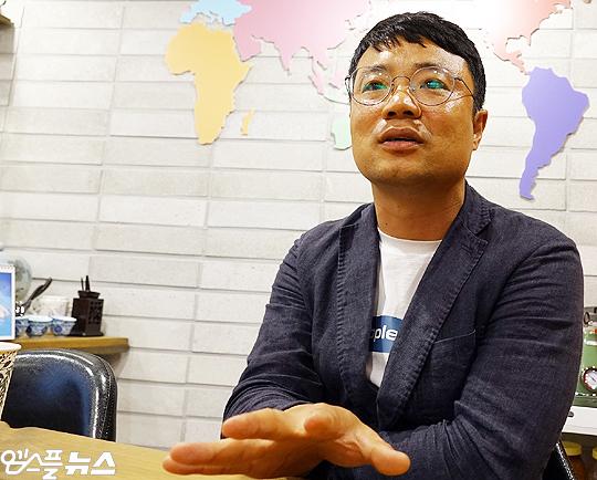 용인대학교 김주영 교수(사진=엠스플뉴스 이근승 기자)