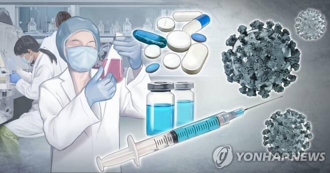 신종 코로나바이러스 치료제 · 백신 개발 추진 (PG) [장현경 제작] 사진합성·일러스트