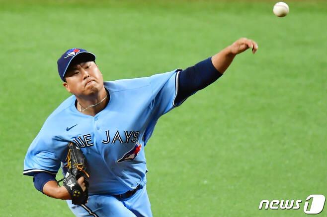 토론토 블루제이스의 왼손 에이스 류현진(33). © AFP=뉴스1