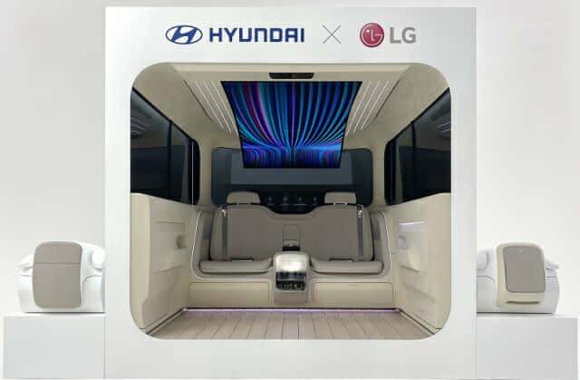 현대자동차와 LG전자가 선보인 아이오닉 콘셉트 캐빈 (사진=현대차)