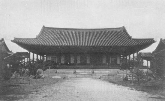 구한말 의정부 중심 건물인 정본당 사진