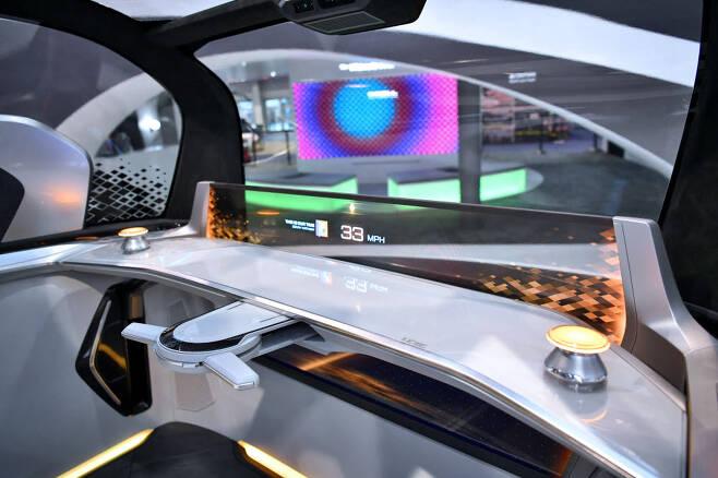 현대모비스의 자율주행차 사운드시스템.