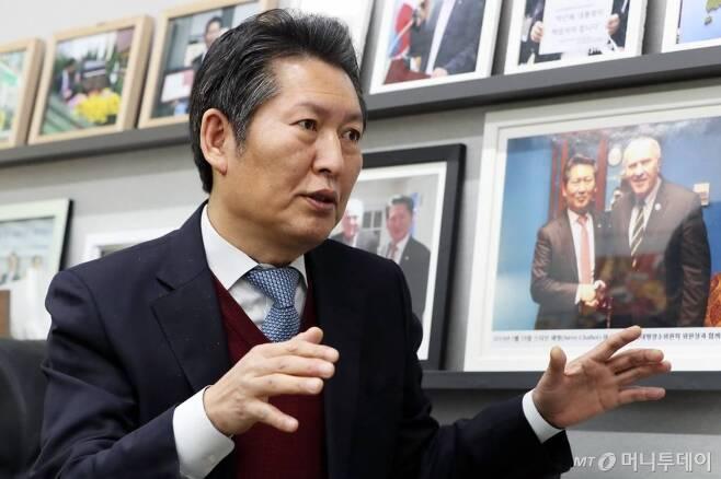 정청래 더불어민주당 의원./사진=이기범 기자