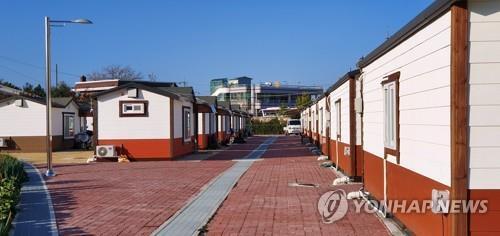 고성 산불 조립주택단지 [연합뉴스 자료사진]