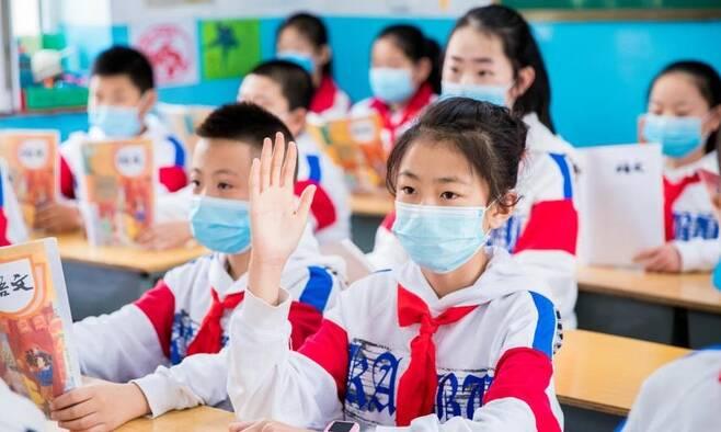 중국 네이멍구 자치구 내 한 초등학교의 중국어(語文) 수업 장면 [글로벌타임스 캡처. 재판매 및 DB 금지]