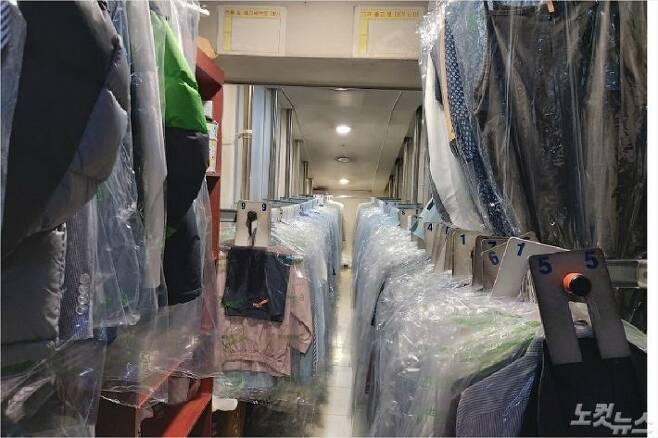 허영옥씨가 운영 중인 세탁업소 모습(사진=김미성 기자)