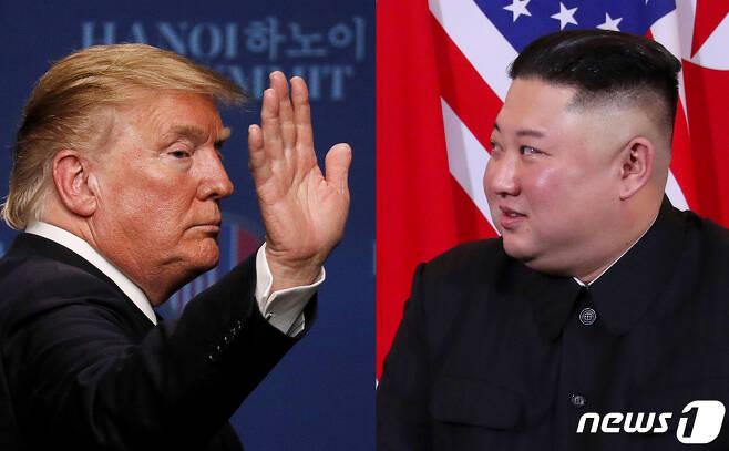 도널드 트럼프 미국 대통령과 김정은 북한 국무위원장. © 로이터=뉴스1