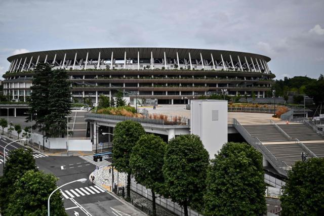 내년 여름 열릴 도쿄올림픽의 주경기장인 신국립경기장 전경. 도쿄=AFP 연합뉴스