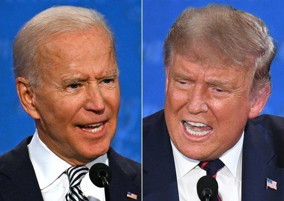 조 바이든 민주당 대선후보와 도널드 트럼프 대통령. [AFP=연합뉴스]