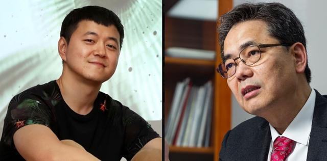 문준용(왼쪽) 건국대 강사, 곽상도 의원. 페이스북 캡처
