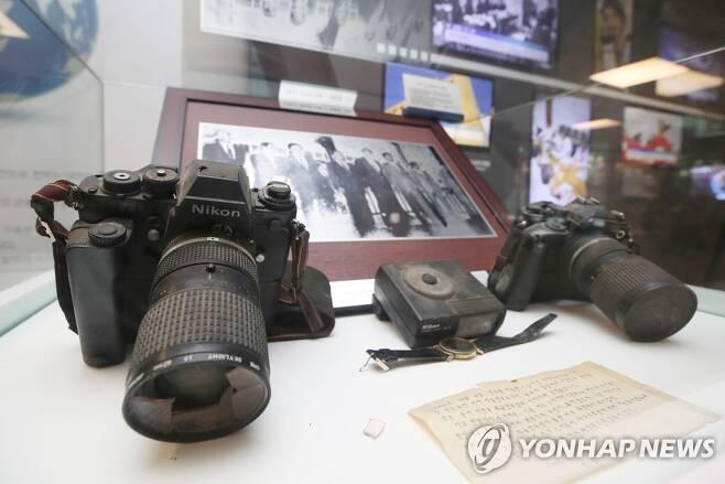 고 최금영 기자가 아웅산 테러 당시 사용했던 카메라 [연합뉴스 자료사진. 재판매 및 DB 금지]
