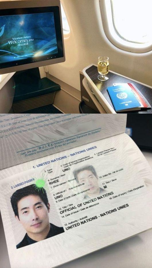 [사진=이근 대위 SNS] 이근 대위가 '가짜 UN' 의혹에 UN 여권 사진을 공개하며 허위사실 유포라고 반박 입장을 내놨다.