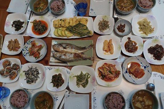 김지훈씨 가족이 체험한 식사. [사진 김지훈]