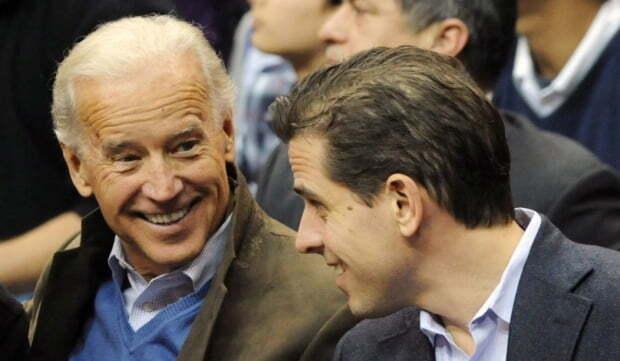 미국 대선후보 조 바이든(왼쪽) 전 부통령과 아들 헌터 바이든. 사진 = 연합뉴스