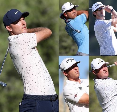 2020년 미국프로골프(PGA) 투어 THE CJ CUP(이하 더CJ컵) 우승 경쟁을 예고한 러셀 헨리, 잔더 셔플레, 란토 그리핀, 테일러 구치, 제이슨 코크락. 사진제공=Getty Image for THE CJ CUP