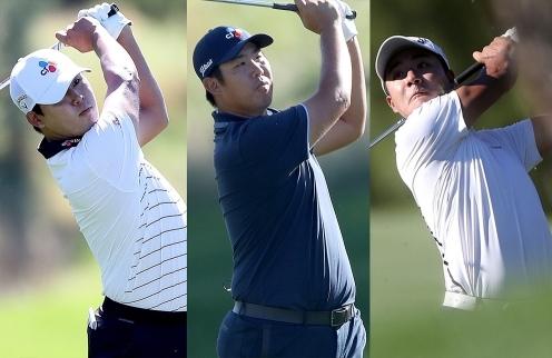 2020년 미국프로골프(PGA) 투어 더CJ컵 골프대회에 출전한 김시우, 안병훈, 김한별 프로. 사진제공=Getty Image for THE CJ CUP