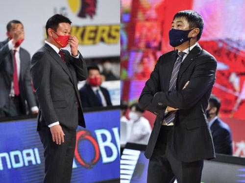창원 LG 조성원 감독(왼쪽), 서울 삼성 이상민 감독. 제공 | KBL