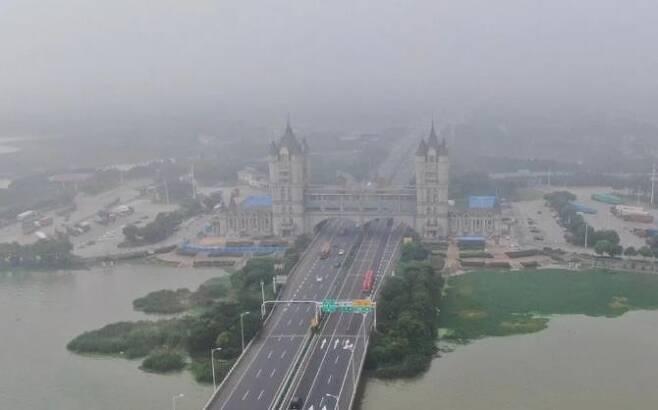 중국 창저우 허후 고속도로 휴게소 [중국국제라디오 캡처.재판매 및 DB 금지]