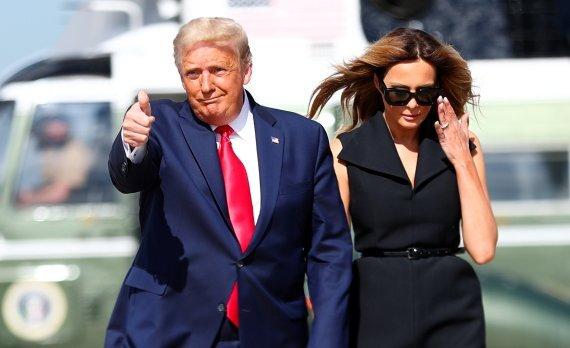 도널드 트럼프 미국 대통령과 영부인 멜라니아 트럼프 /사진=로이터뉴스1