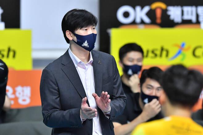 석진욱 OK금융그룹 감독. 사진제공=KOVO