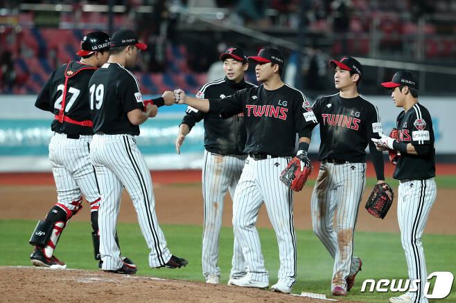 LG 트윈스 선수단. 2020.10.20/뉴스1 © News1 조태형 기자