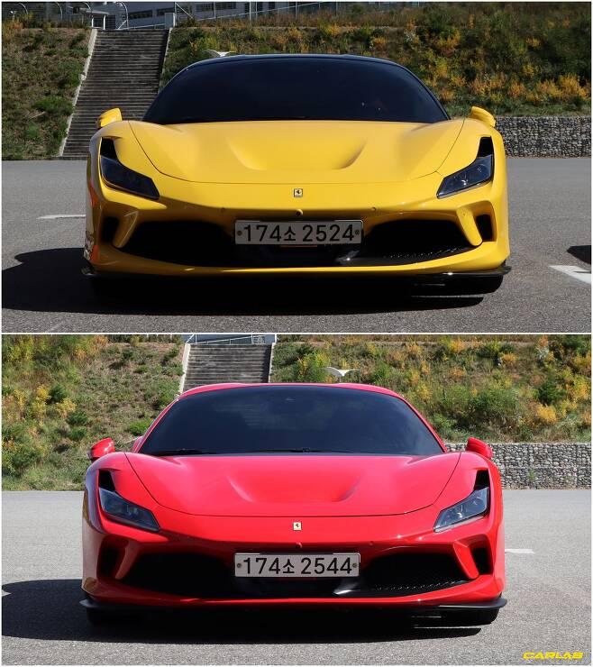 F8 트리뷰토(노랑)와 F8 스파이더(빨강)
