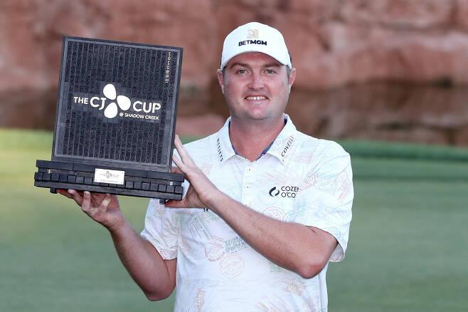 더 CJ컵에서 생애 첫 PGA 투어 우승을 차지한 제이슨 코크랙. 사진제공=CJ그룹