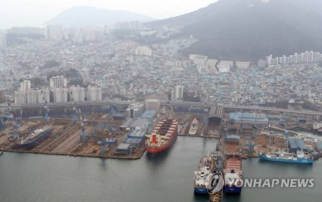 한진중공업 영도조선소 [연합뉴스 자료사진]