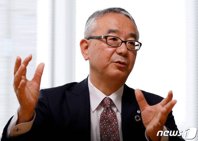 이사오 테시로기 시오노기 사장. © 로이터=뉴스1