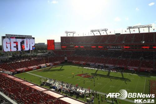 내년 2월 슈퍼볼이 열릴 예정인 레이몬드 제임스 스타디움. 이곳을 홈으로 사용하는 탬파베이는 플로리다주 보건 당국의 방침에 따라 관중 입장을 일부 허용하고 있다. 사진=ⓒAFPBBNews = News1